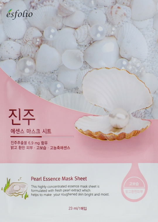 Látková maska s perlovým extraktem - Esfolio Pearl Essence Mask Sheet