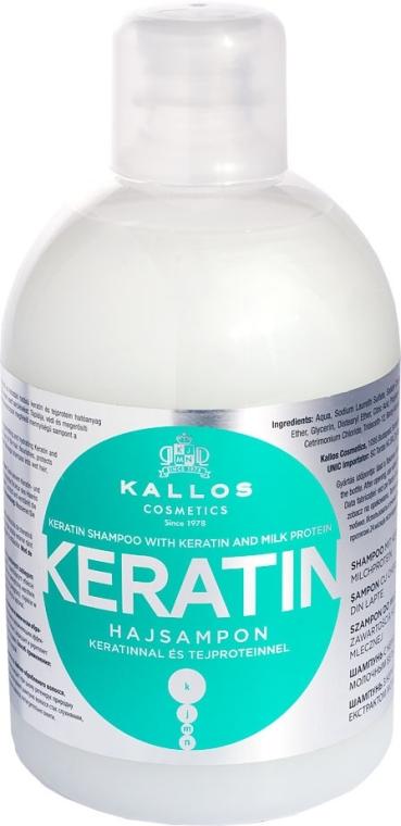 Šampon s keratinem a mléčnými bílkovinami - Kallos Cosmetics Keratin Shampoo
