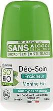 Parfémy, Parfumerie, kosmetika Kuličkový dezodorant s bambusovým pudrem - So'Bio Etic Deo Fresh Deodorant Mint All Skin Types