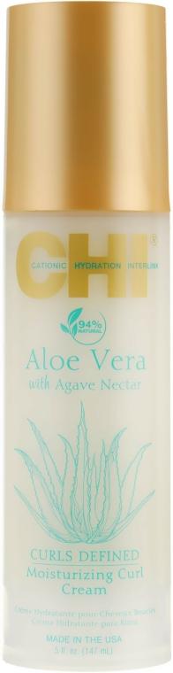hydratační krém pro kudrnaté vlasy s Aloe Vera - CHI Aloe Vera Moisturizing Curl Cream — foto N1