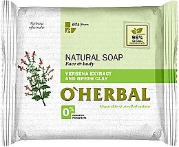 Parfémy, Parfumerie, kosmetika Přírodní mýdlo s extraktem z verbeny a zeleným jílem - O'Herbal Natural Soap
