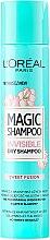 Parfémy, Parfumerie, kosmetika Suchý šampon na vlasy - L'Oreal Paris Magic Shampoo Invisible Dry Shampoo Sweet Fusion