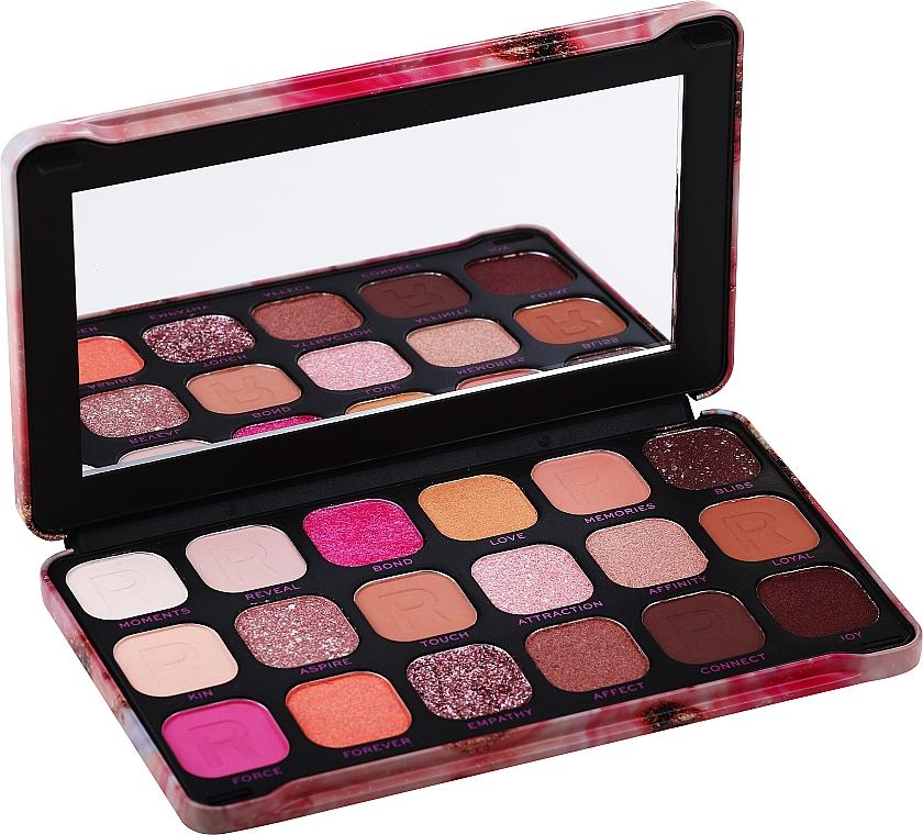 Paleta očních stínů, 18 odstínů - Makeup Revolution Forever Flawless Palette