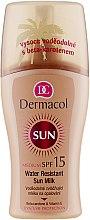 Parfémy, Parfumerie, kosmetika Voděodolné mléko-sprej na opalování - Dermacol Water Resistant Sun Milk SPF 15