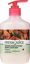 Parfémy, Parfumerie, kosmetika Krémové mýdlo s hydratačním mlékem Mandle s dávkovačem - Fresh Juice Almond