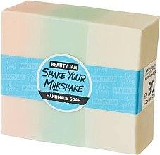 Parfémy, Parfumerie, kosmetika Glycerinové mýdlo s vůní jahod se šlehačkou - Beauty Jar Shake Your Milkshake Handmade Soap