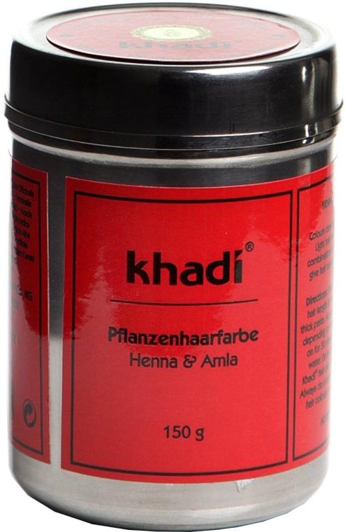 "Organická bylinná barva na vlasy ""Henna a Amla"" - Khadi Herbal Hair Colour Henna & Amla"