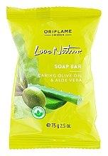 "Parfémy, Parfumerie, kosmetika Mýdlo ""Oliva a aloe"" - Oriflame Love Nature Olive Oil & Aloe Vera Soap Bar"