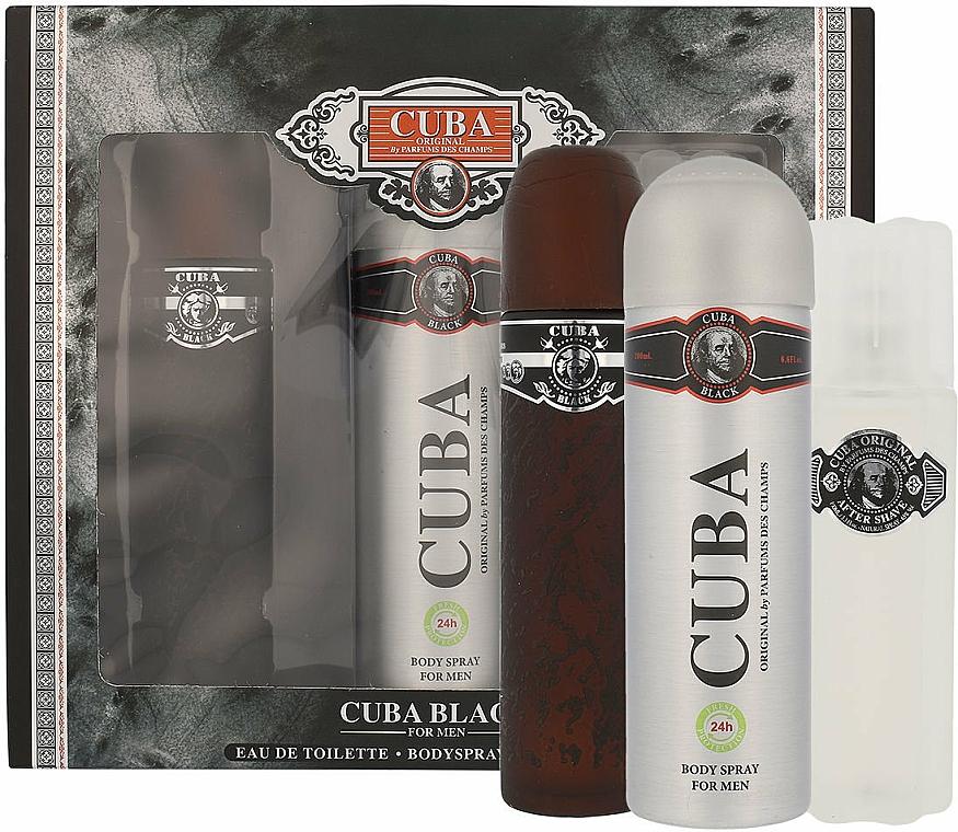 Cuba Black - Sada (edt/100 ml + deo/200 ml + ash/lot/100 ml) — foto N2