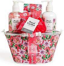 Parfémy, Parfumerie, kosmetika Sada - IDC Institute Royal Garden (sh/g/250ml+b/lot/250ml+salt/100g+sponge)