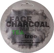 Parfémy, Parfumerie, kosmetika Pleťová maska Bambusové uhlí a čajovník - Cafe Mimi Charkoal & Tea Tree Face Mask