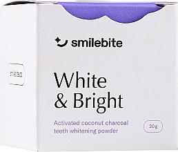 Parfémy, Parfumerie, kosmetika Bělící zubní prášek s kokosovým uhlím - Smilebite White & Brigh Coconut Charcoal Teeth Whitening Powder