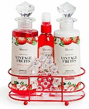 Parfémy, Parfumerie, kosmetika Sada - IDC Institute Vintage Fruits (sh/g/240ml+b/lot/240ml+spray/120ml+soap/100g+massager)