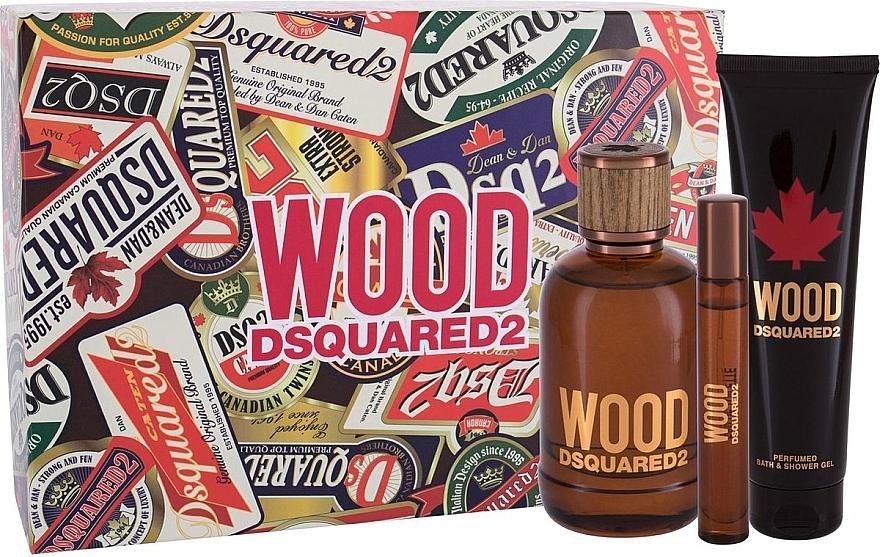 Dsquared2 Wood Pour Homme - Sada (edt/100ml + edt/10ml + sh/gel/150ml)