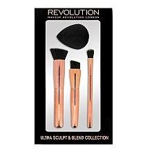 Parfémy, Parfumerie, kosmetika Sada štětců a houbičky na konturování - Makeup Revolution Ultra Sculpt & Blend Sponge Brush Collection