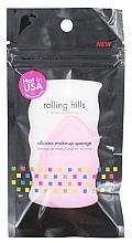 Parfémy, Parfumerie, kosmetika Silikonová houbička na make-up, růžová - Rolling Hills Silicone Makeup Sponge Pink