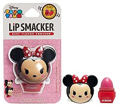 """Parfémy, Parfumerie, kosmetika Balzám na rty """"Jahoda"""" - Lip Smacker Tsum Tsum Minnie Strawberry Lollipop"""