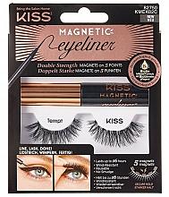 Parfémy, Parfumerie, kosmetika Umělé magnetické řasy - Kiss Magnetic Eyeliner & Lash Kit KMEK02 Tempt