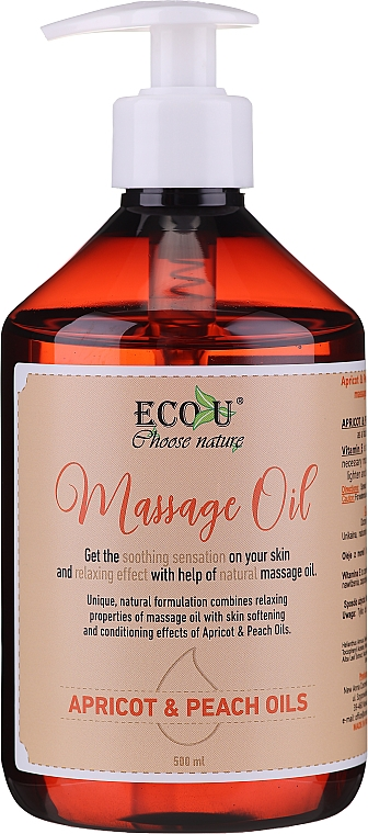 Masážní olej - Eco U Massage Oil Sweet Apricot & Peach Oil
