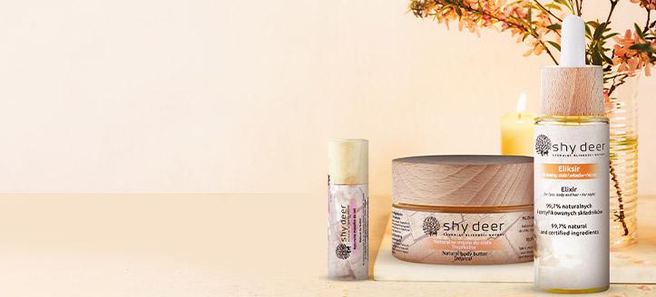 K nákupu jakéhokoliv produktu Shy Deer získej přírodní olej na rty jako dárek