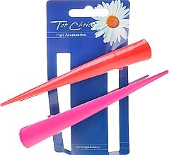 Parfémy, Parfumerie, kosmetika Spony do vlasů 25136, růžová a červená - Top Choice