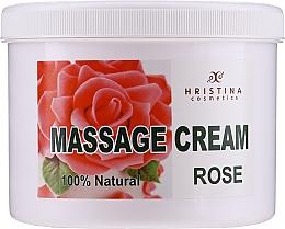 Parfémy, Parfumerie, kosmetika Masážní krém na obličej a tělo Bulharská růže - Hristina Cosmetics Massage Cream Bulgarian Rose