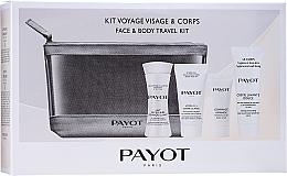 Parfémy, Parfumerie, kosmetika Sada - Payot Face & Body Travel Kit (micel/milk/30ml + cr/15ml + b/scr/8ml + face/foam + bag)