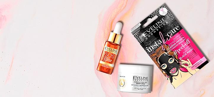 K nákupu produktů Eveline Cosmetics v hodnotě nad 220 Kč získej dárky