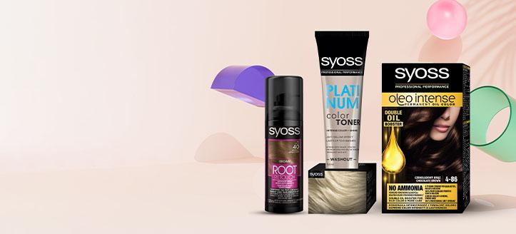 Sleva až 25% na akční přípravky pro péči o vlasy Syoss. Ceny na webu jsou uvedeny po slevě