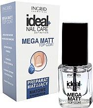 Parfémy, Parfumerie, kosmetika Matný vrchní lak na nehty - Ingrid Cosmetics Ideal+ Nail Care Definition Mega Matt Top Coat