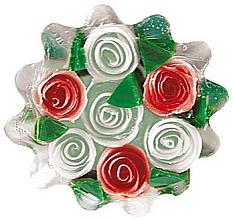 Parfémy, Parfumerie, kosmetika Glycerinové mýdlo Rose Fantasy, bílo-červené - Bulgarian Rose Soap