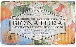 """Parfémy, Parfumerie, kosmetika Mýdlo """"Ženšen a ječmen"""" - Nesti Dante Bio Natura Ginseng & Barley Soap"""