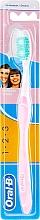 Parfémy, Parfumerie, kosmetika Zubní kartáček, růžový - Oral-B 1 2 3 Delicat White 40 Medium