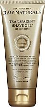 Parfémy, Parfumerie, kosmetika Průhledný gel na holení - Recipe For Men RAW Naturals Transparent Shave Gel