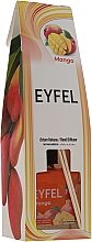 "Parfémy, Parfumerie, kosmetika Aromatický difuzér ""Mango"" - Eyfel Perfume Reed Diffuser Mango"