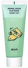Parfémy, Parfumerie, kosmetika Zklidňující hliněná pleťová maska - Skin79 Animal Color Clay Mask Angry Cat