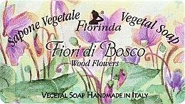 Parfémy, Parfumerie, kosmetika Mýdlo přírodní Lesní květiny - Florinda Sapone Vegetale Vegetal Soap Wood Flowers