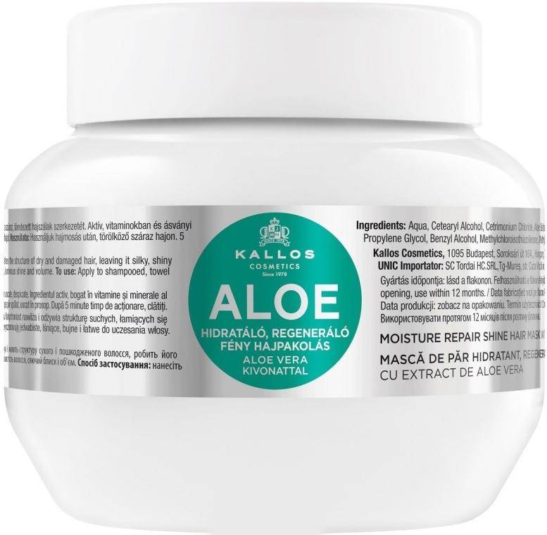 Maska pro hydrataci a obnovu suchých a poškozených vlasů Aloe - Kallos Cosmetics Moisture Repair Aloe Hair Mask