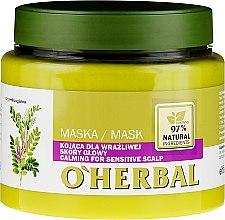 Parfémy, Parfumerie, kosmetika Zklidňující maska s extraktem lékořice pro citlivou pokožku hlavy - O'Herbal