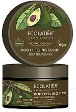 Parfémy, Parfumerie, kosmetika Tělový peeling Hluboká výživa - Ecolatier Organic Avocado Body Peeling Scrub