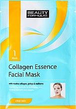 Parfémy, Parfumerie, kosmetika Plátýnková maska na obličej - Beauty Formulas Collagen Essence Facial Mask