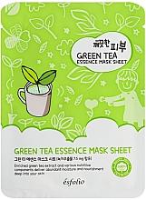Parfémy, Parfumerie, kosmetika Látková maska se zeleným čajem - Esfolio Pure Skin Green Tea Essence Mask Sheet