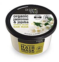 "Parfémy, Parfumerie, kosmetika Maska na vlasy ""Indický jasmín"" - Organic Shop Organic Jasmine and Jojoba Hair Mask"