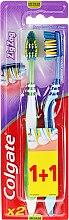 Parfémy, Parfumerie, kosmetika Zubní kartáč Zig Zag Plus, střední, zelený + modrý - Colgate Zig Zag Plus Medium