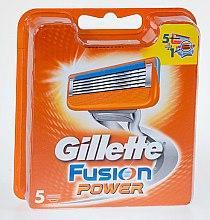 Parfémy, Parfumerie, kosmetika Vyměnitelné kazety na holení, 5 ks. - Gillette Fusion Power
