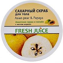 """Parfémy, Parfumerie, kosmetika Cukrový tělový peeling """"Asijská hruška a papája"""" - Fresh Juice Asian Pear & Papaya"""