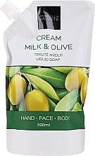 Parfémy, Parfumerie, kosmetika Tekuté mýdlo Mléko a olivy - Gabriella Salvete Milk & Olive Liquid Soap (doy-pack)