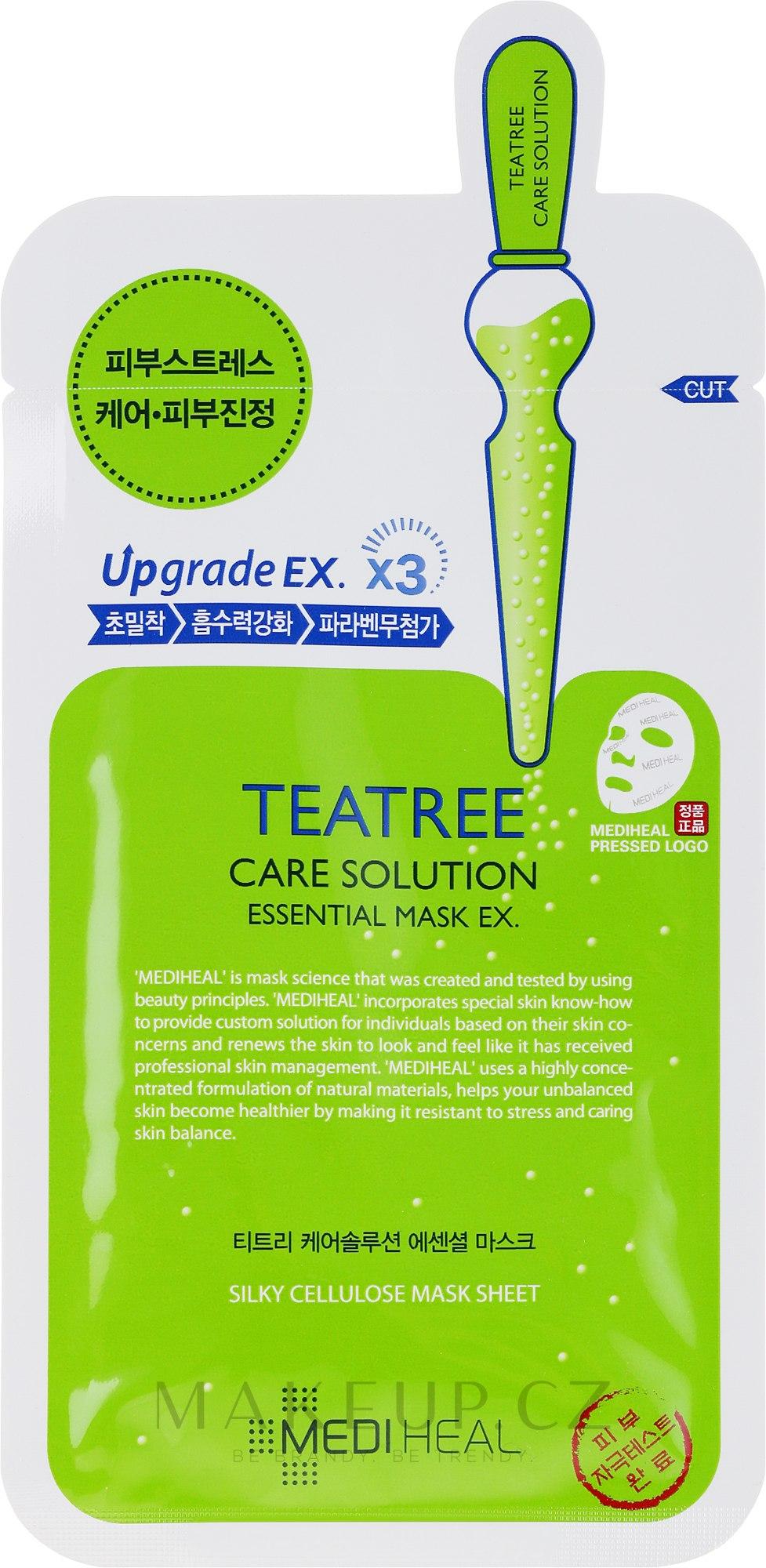 Uklidňující látková maska - Mediheal Teatree Care Solution Essential Mask Ex — foto 24 ml