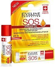 "Parfémy, Parfumerie, kosmetika Obnovující balzám na rty ""Klasický"" - Eveline Cosmetics Argan Oil Sos"