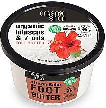 Parfémy, Parfumerie, kosmetika Olej na nohy Africký balzám - Organic Shop Organic Hibiscus & 7 Oils Foot Butter